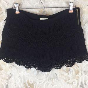 Pins & needles 4 cute layered lace crochet shorts